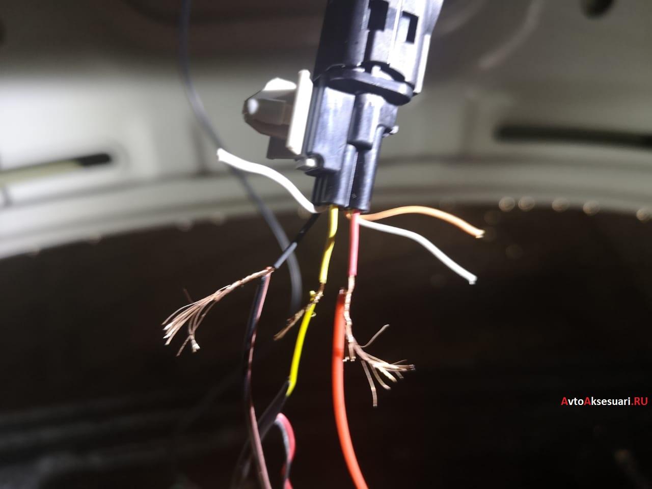Переподключение не штатной камеры заднего вида к штатной проводки Kia Optima 3